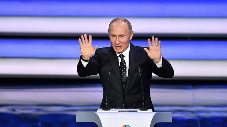 Vladimir Putin was present at the draw for the 2018 Russia World Cup last week