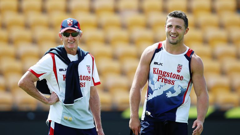 Wayne Bennett & Sam Burgess (R) are hoping to mastermind World Cup success on Saturday