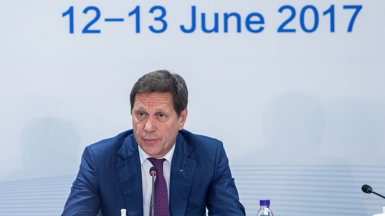 Russian Olympic Committee president Alexander Zhukov says they have had their rights restored