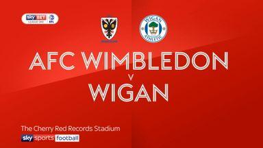 AFC Wimbledon 0-4 Wigan
