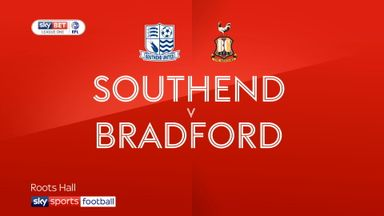 Southend 1-2 Bradford City