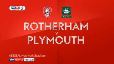 Rotherham 1-1 Plymouth