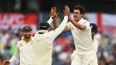 Mitchell Starc bowled James Vince with fantastic jagging delivery