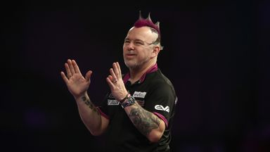 World No 2 Peter Wright is in danger of being eliminated from the Premier League