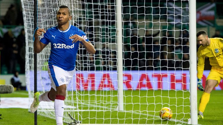 Alfredo Morelos gave Rangers an unlikely lead late in the first half
