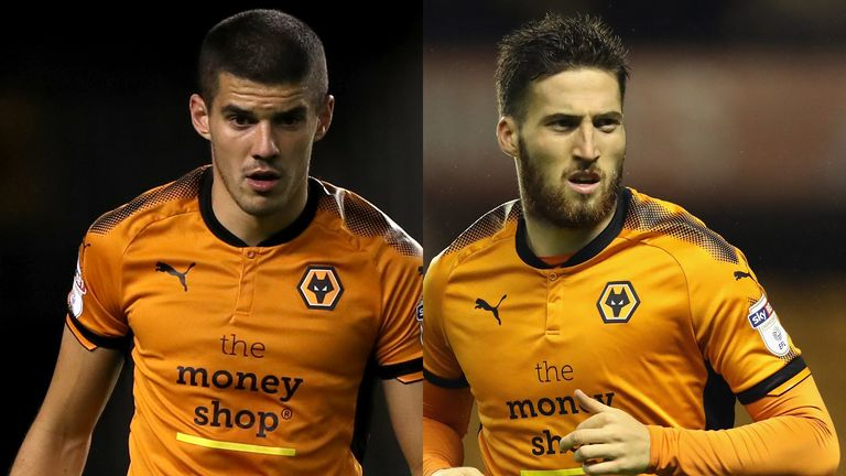 Conor Coady and Matt Doherty of Wolves