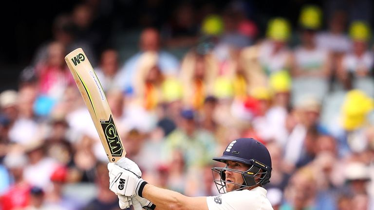 ADELAIDE, AUSTRALIA - DECEMBER 04:  Dawid Malan of England bats during day three of the Second Test match during the 2017/18 Ashes Series between Australia