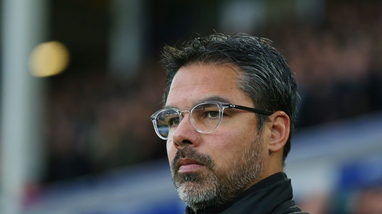 LIVERPOOL, ENGLAND - DECEMBER 02: David Wagner, Manager of Huddersfield Town looks on during the Premier League match between Everton and Huddersfield Town