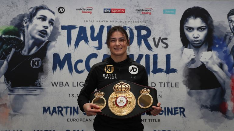 TAYLOR VS McCASKILL PROMOTION.PRESS CONFERENCE,.COURTHOUSE HOTEL, SHOREDITCH,.LONDON.PIC;LAWRENCE LUSTIG.WBA WORLD LIGHTWEIGHT TITLE.CHAMPION KATIE TAYLOR