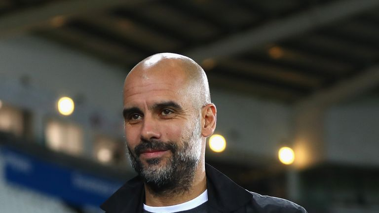 SWANSEA, WALES - DECEMBER 13: Josep Guardiola, Manager of Manchester City arrives at the stadium prior to the Premier League match between Swansea City and