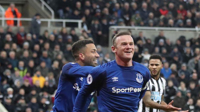 Wayne Rooney of Everton celebrates