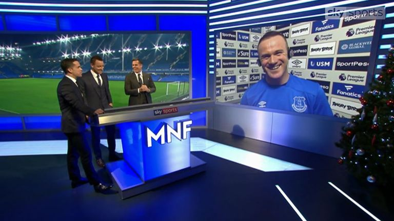 Wayne Rooney's dig at Jamie Carragher's shirt on MNF