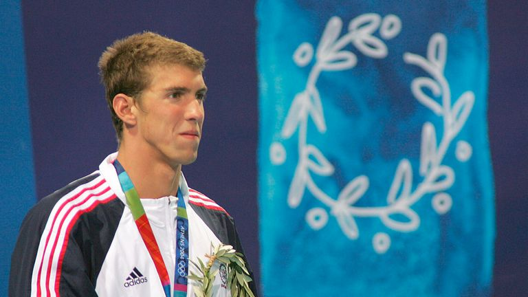 Phelps won gold at his first Olympic Games in Athens in 2004