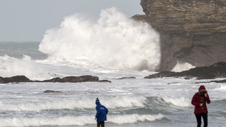 Portreath in Cornwall, one of the UK's many beautiful beaches