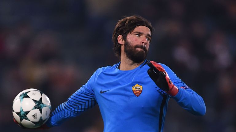 Roma goalkeeper Alisson has been linked with a move away from Roma this summer