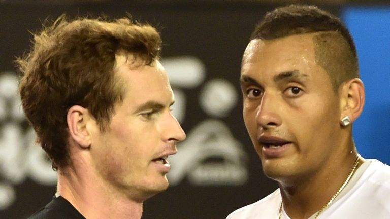 Australia's Nick Kyrgios (R) saddened by Andy Murray's latest setback