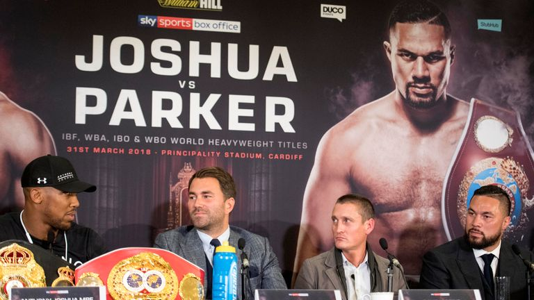 Joshua vs Parker: Eddie Hearn reveals why Anthony Joshua was angered by email from David Higgins