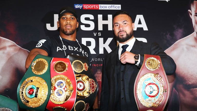 Joshua and Parker will put three world titles and perfect records on the line