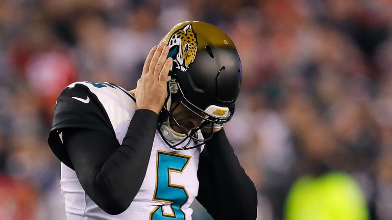 Jaguars QB Blake Bortles played well but couldn't quite guide the team to victory over the Patriots