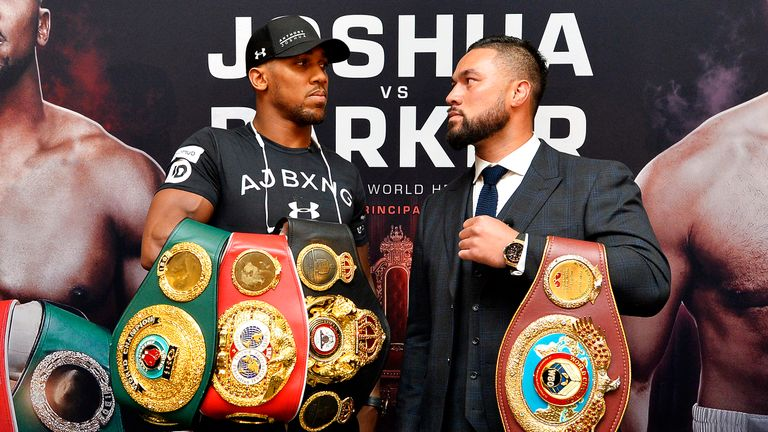Joshua and Parker shared a face-off in front of the media