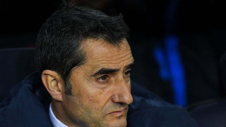 Ernesto Valverde's Barcelona failed to score in La Liga for the first time this season