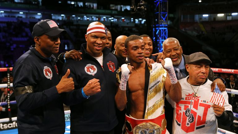 Errol Spence Jr was crowned the IBF champion after defeating Kell Brook