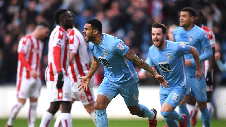 Jordan Willis scored Coventry's opener at the Ricoh Arena