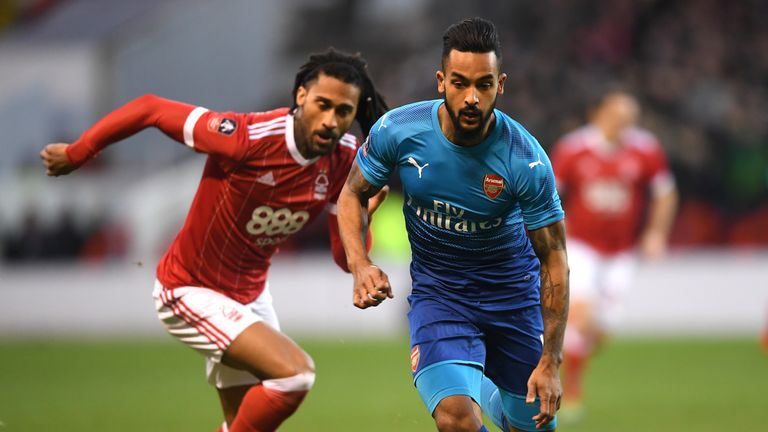 Theo Walcott struggled to make an impact in the game