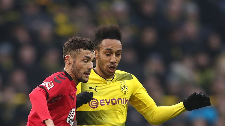 Pierre-Emerick Aubameyang made his comeback for Dortmund in their draw with Freiburg