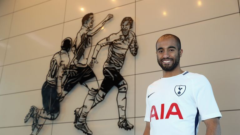 Lucas Moura joins Tottenham on a five-and-a-half year deal