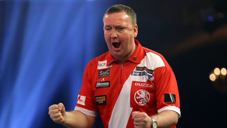 Glen Durrant will take on Mark McGeeney in the Sunday's final