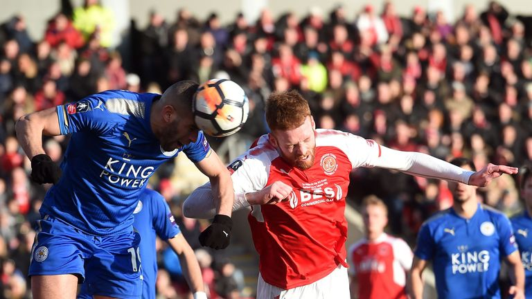 Jamie Vardy relishes return to Fleetwood and fond, familiar faces