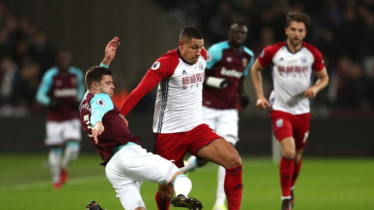 Jake Livermore was involved in an altercation with a West Ham fan after being substituted at the London Stadium on Tuesday