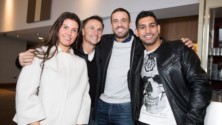 Amir Khan was joined by some of his jungle friends at the press conference