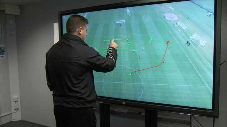 Manager Robinson annotates and analyses drone footage shortly after training
