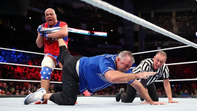 Kurt Angle was back in the ring at last year's Survivor Series