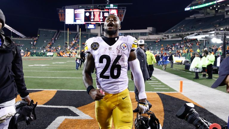 Le'Veon Bell has scored 11 touchdowns this season helping the Steelers to the AFC Divisional playoff round