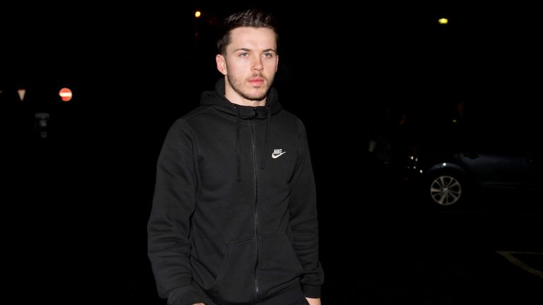Lewis Morgan is pictured arriving at Ross Hall Hopsital for his Celtic medical on Thursday