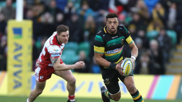Luther Burrell left the field during the match