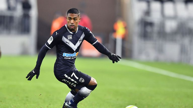 Bordeaux forward Malcom was a rumoured target for Arsenal and Spurs