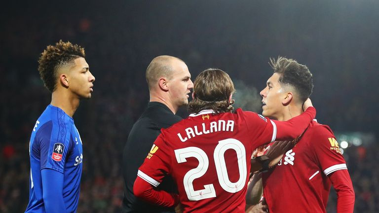 The FA are investigating the clash between Holgate and Liverpool's Roberto Firmino