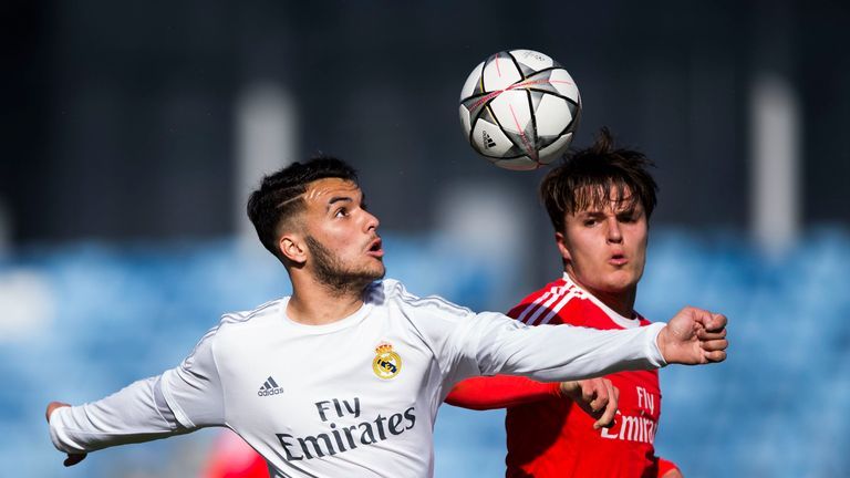 Oliver Sarkic (right) has joined Leeds on a permanent deal from Benfica