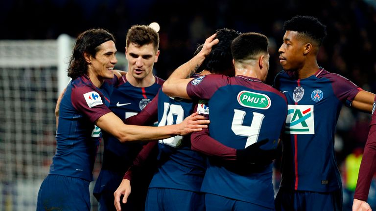 PSG saw off Guingamp in the Coupe de France