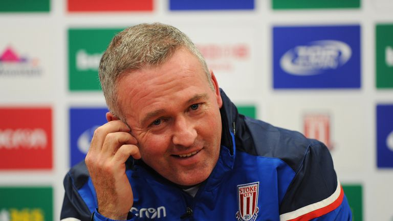 Paul Lambert takes charge of his first game as Stoke manager on Saturday