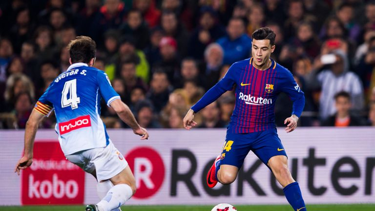 Coutinho made his first start for Barcelona on Sunday