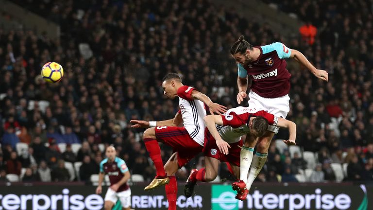 Carroll latched onto Aaron Creswell's cross to nod home West Ham's equaliser against West Brom