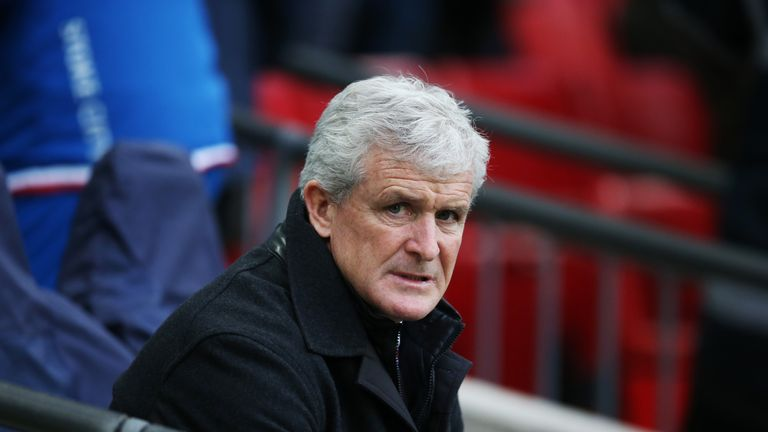Former Southampton striker Mark Hughes was sacked by Stoke in January