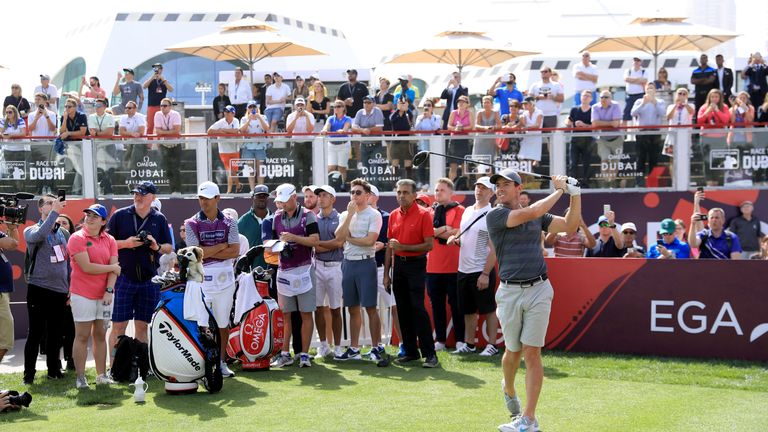 Dubai Desert Classic: McIlroy delighted with promising start