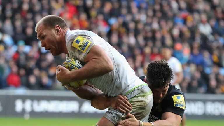 Schalk Burger crashed over for a third try which had Saracens cruising at 18-3 ahead