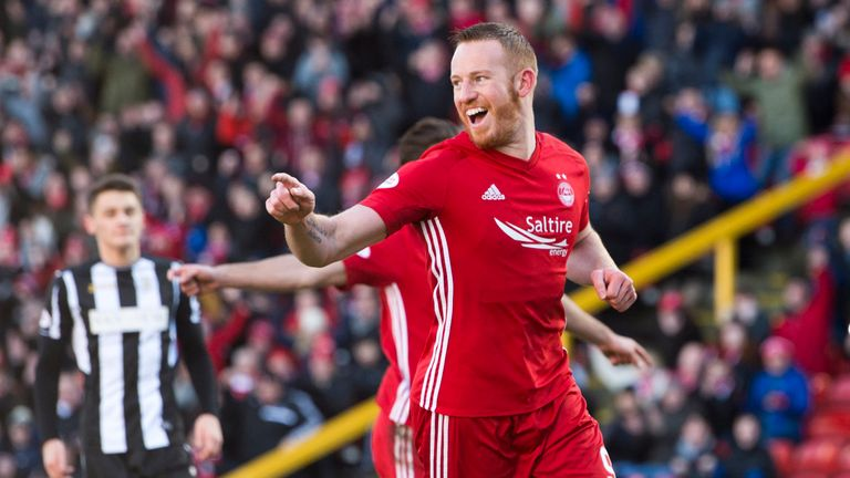 Eleven goals in all competitions for Aberdeen striker Adam Rooney this season.